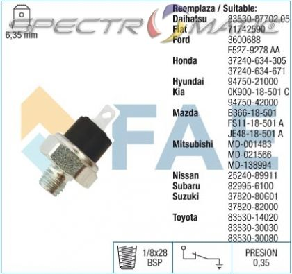 11610 oil pressure switch SW /7.0017-C/