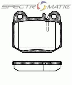 OE 163 420 11 20 - brake pad set  MERCEDES-BENZ M-CLASS (W163) ML 320 ML 430 ML 500 ML 55 ML 270 ML 400
