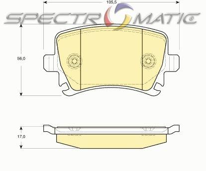 OE 1K0 698 451G - brake pad set rear axle AUDI A3 A4 A6 TT