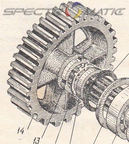 307-10А-10А  Зъбно колело  Э-2503