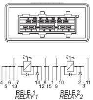 RDE/15-12 (59171, 59172) - relay CITROEN Xantia Xsara PEUGEOT 106