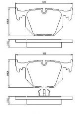 OE 34 21 6 761 248 - brake pad set BMW 3 M3 (E46) M5 (E39) 7 (E38) X5 (E53)