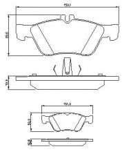OE 002 420 96 20 - brake pad set front axle Mercedes (W202, S202, C208, W210, S210)