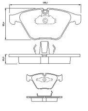 OE 34 11 6 764 540 - brake pad set front axle BMW 5 (E60, E61) 6 (E63) 7 (E65, E66, E67)