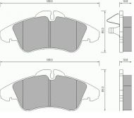 OE 002 420 99 20 - brake pad set front axle MERCEDES SPRINTER V-CLASS VITO, VW LT