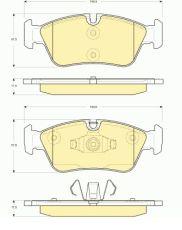 OE 34 11 6 769 951 - brake pad set BMW 1 (E81, E87, E90)
