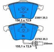 OE 8E0 698 151C - brake pad set AUDI A4 A6 A8, SEAT EXEO