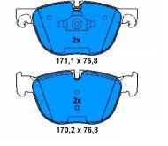 OE 34 11 6 779 293 - brake pad set front axle BMW X5 (E70) X6 (E71, E72)