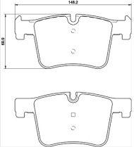 OE 34 11 6 856 193 Brake Pad Set, disc brake BMW 1 F20 F21 BMW 2 F22 BMW 3 F30 F35 F80 F31 F34 BMW 4 F32 F82 F33 F83 F36 X3 F25 X4 F26 341168562193