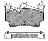 7L0 698 451 - brake pad set Audi Q7, Porsche Cayenne (955), VW Touareg (7LA, 7L6, 7L7) 7L0698451B