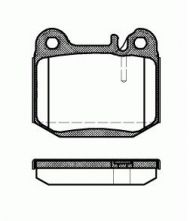 OE 163 420 11 20 - brake pad set  MERCEDES-BENZ M-CLASS (W163) ML 320 ML 430 ML 500 ML 55 ML 270 ML 400